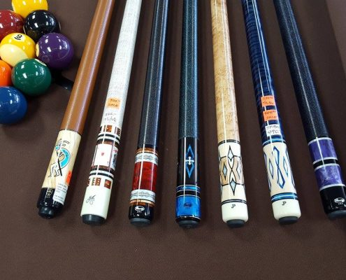 Close Up Pool Cues
