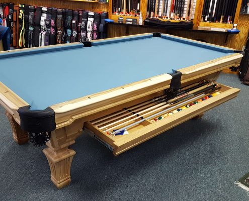 Hampton shown in Solid Hickory with Cue Drawer